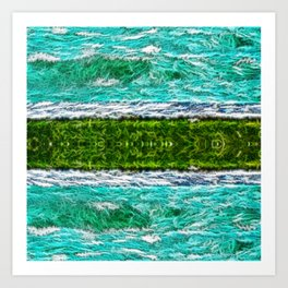 Green and Teal Art Print