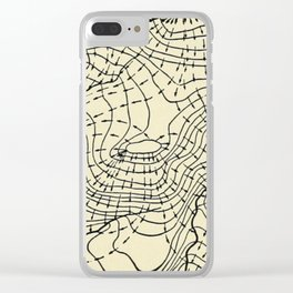 Topography Map Clear iPhone Case