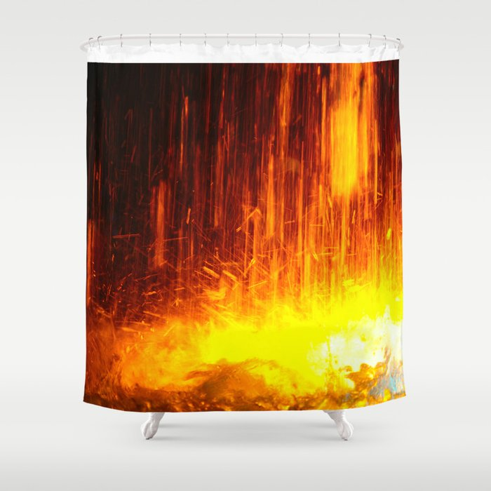 The light show missed with a water fountain Shower Curtain