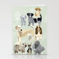 dogs Stationery Cards featuring Dogs by Augustwren