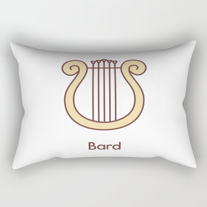 Cute Dungeons and Dragons Bard class Rectangular Pillow