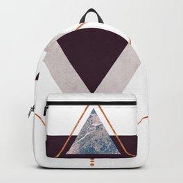 PLUM COPPER AND BLUSH GEOMETRIC Backpack