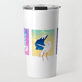 Birds carrying the sky Travel Mug
