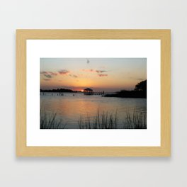 Sunset on Back Bay Biloxi Framed Art Print
