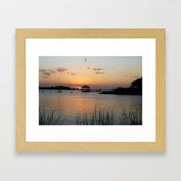 Sunset on Back Bay Biloxi Framed Art Print