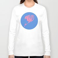 fairy tail Long Sleeve T-shirts featuring Fairy Tail Segmented Logo (Lucy) circle by JoshBeck