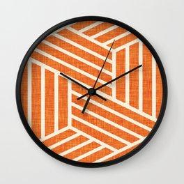 Slice Orange Wall Clock