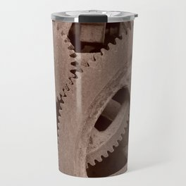 Big Gears (sepia ) Travel Mug