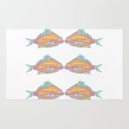 fish little kissing Rug