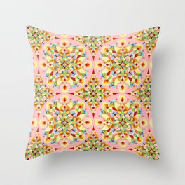 Pink Confetti Throw Pillow