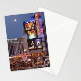 Las Vegas moon Stationery Cards