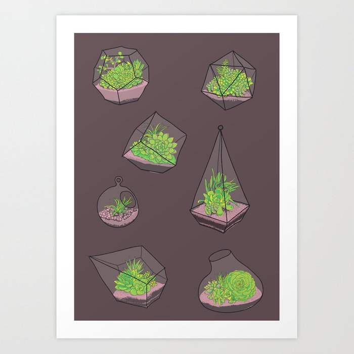 Terrariums Art Print
