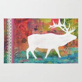 How Wild It Was Elk Collage Rug