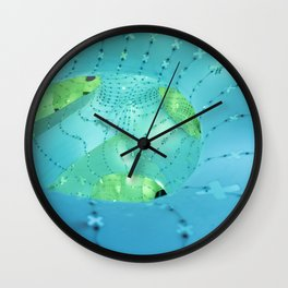 mint green light Wall Clock