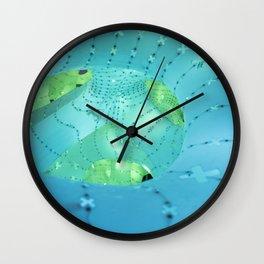mint green light Wall Clock