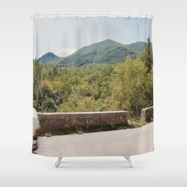 Old Mercedes 3/3 Shower Curtain