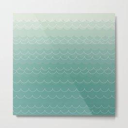 Ombre Waves Metal Print