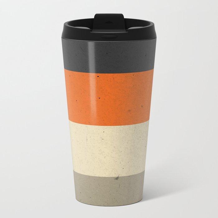 COLOR PATTERN III - TEXTURE Metal Travel Mug