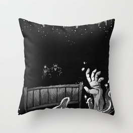 Welcome and Goodbye Throw Pillow