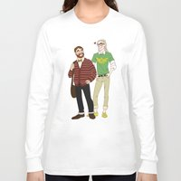 legolas Long Sleeve T-shirts featuring Hipster Legolas and Gimli by Nautilus Gifticus