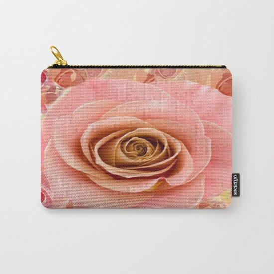 Peach Rose Garden Carry-All Pouch