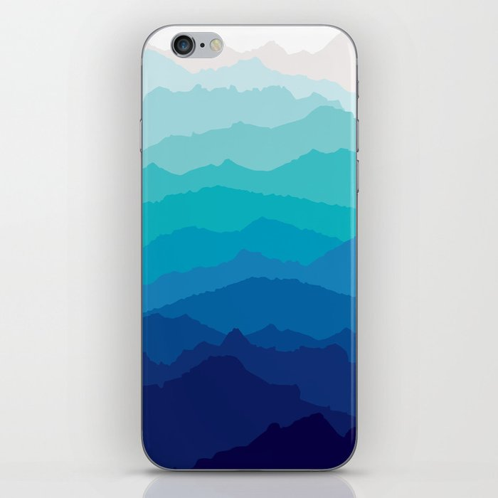 Blue Mist Mountains iPhone Skin