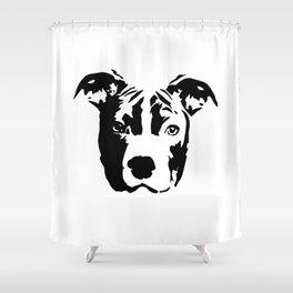 Pit Bull Terrier Dog Shower Curtain