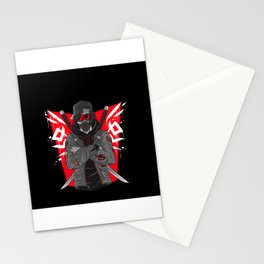 Cool Samurai player character gift motif Stationery Cards