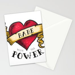 Babe with the Power Stationery Cards