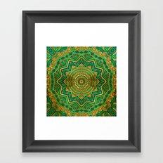 Jade Mandala Framed Art Print