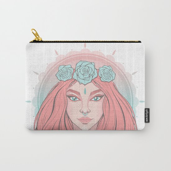 Rose Ivy Carry-All Pouch