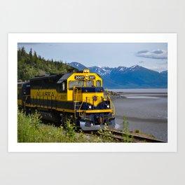 5298 - Alaska Passenger Train Art Print