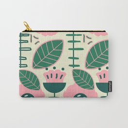 Modern flowers and leaves Carry-All Pouch