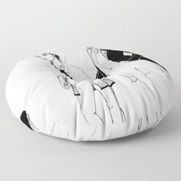 Kaz and Inej Floor Pillow