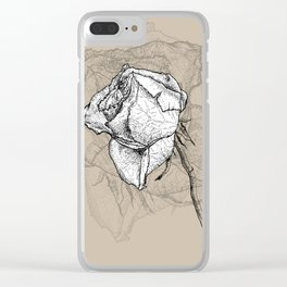 Dying rose Clear iPhone Case