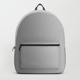 Gray to White Vertical Bilinear Gradient Backpack