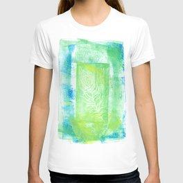 blue & green peacock T-shirt