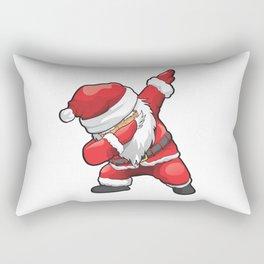 Funny Dabbing Santa Merry Christmas Rectangular Pillow