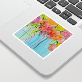 Running Roses Sticker