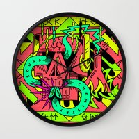 chemistry Wall Clocks featuring Sound Chemistry by Adde Instrumentals