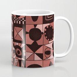 Geometric shapes #4 red Coffee Mug