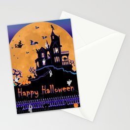 Halloween Haunted House Stationery Cards