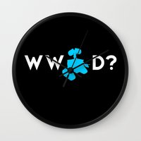 pixar Wall Clocks featuring Pixar/Disney: What Would Wall-E Do? by InvaderDig