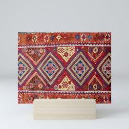 Adiyaman  Antique Turkish Rug Print Mini Art Print