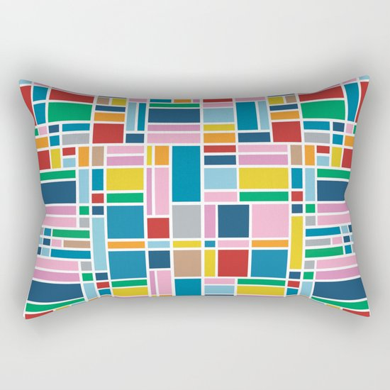 Stained Glass W Rectangular Pillow