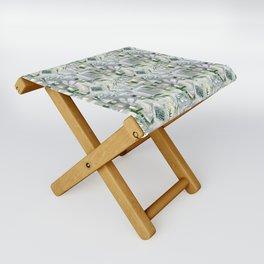 green_pattern Folding Stool