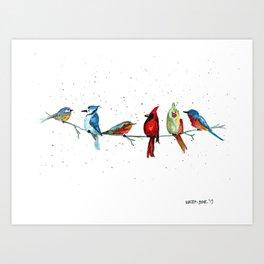 5 Birds Art Print