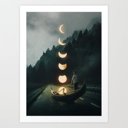 Moon Ride Art Print