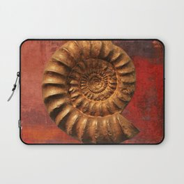 Ammonite fossil, prehistoric life, fossil art Laptop Sleeve