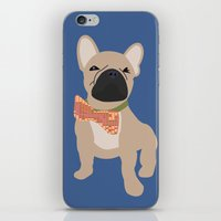 frenchie iPhone & iPod Skins featuring Frenchie by StephyLouPavlik